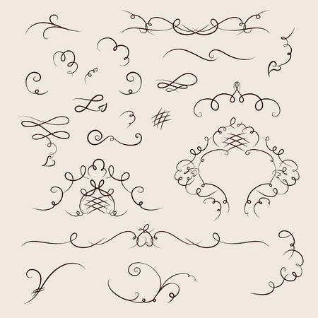 cartouche: Ornate cartouche and scroll strokes
