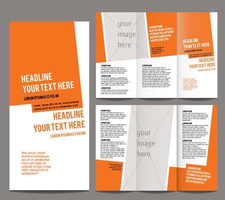 brochure design template trifold geometric abstract Stock Illustratie