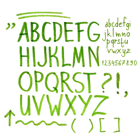 digital numbers: Hand drawn marker artistic font  set includes uppercase and lowercase letters, numbers, exclamation and question marks and underscores