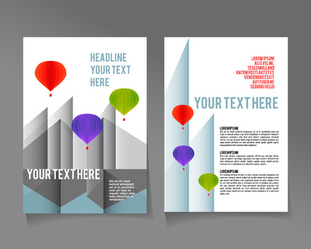 urban style: Editable A4 poster for design  presentation  website, magazine,  template abstract, urban style Illustration