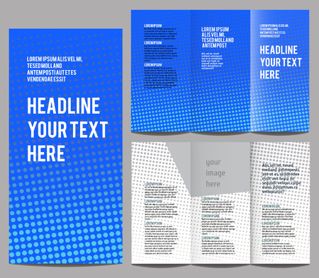 book publisher: brochure design template vector trifold geometric abstract with arrows