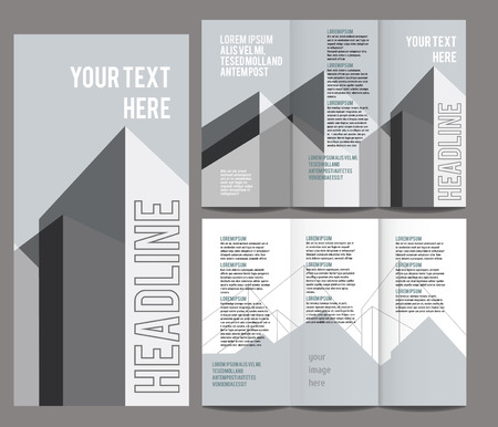 publisher: brochure design template vector trifold geometric abstract