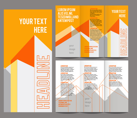 blank template: brochure design template vector trifold geometric abstract