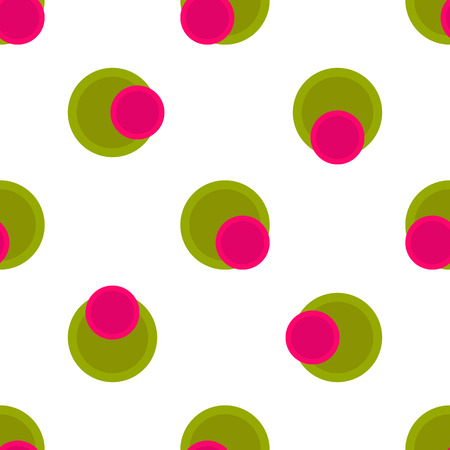 light hearted: Seamless pattern polka dot style   bright pink berry