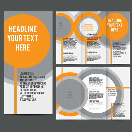 brochure design template vector trifold geometric abstract