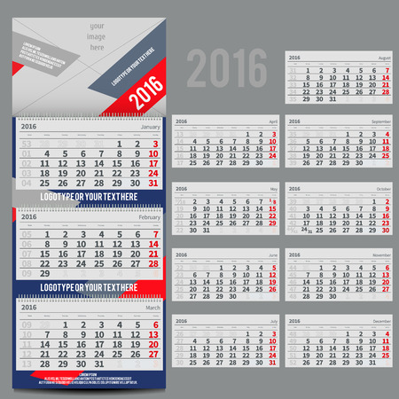 planner: calendar 2016 - Planner for three month includes space