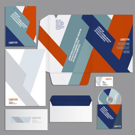 carpetas: Modelo de la identidad corporativa. Vector estilo de empresa para Brandbook y guía.