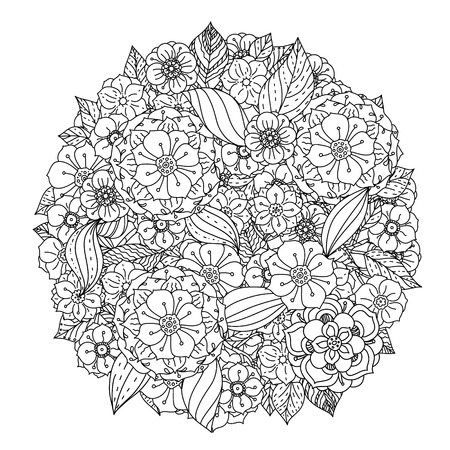 cobwebs: seamless  black and white  ornament of cobwebs, spiders, could be use  for coloring book  in zentangle style. Illustration