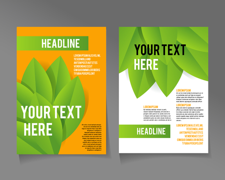eco energy: Editable A4 poster for design  presentation, website, magazine, ECO style  and green colors.