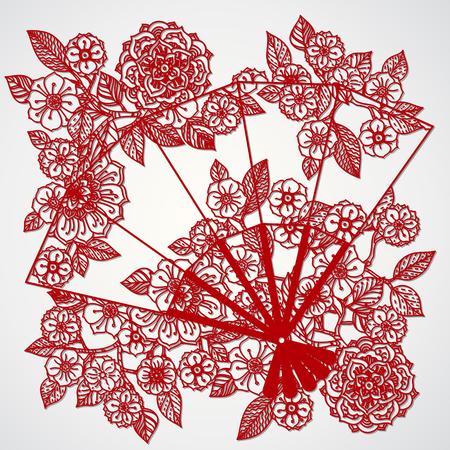 Filigree leaves for paper cutting.