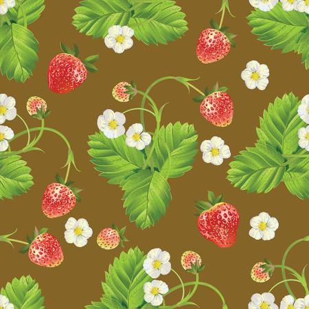Beau fond de fraises. Banque d'images - 77814758