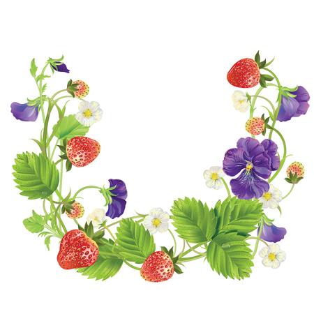 fresh berry round frame.