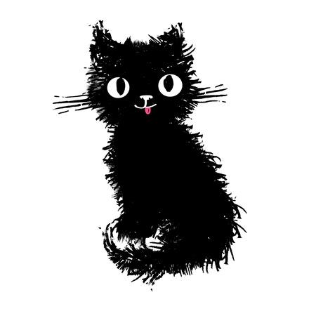 Katze gepunktete gestreifte Vektor-Illustration Design Standard-Bild - 95846560