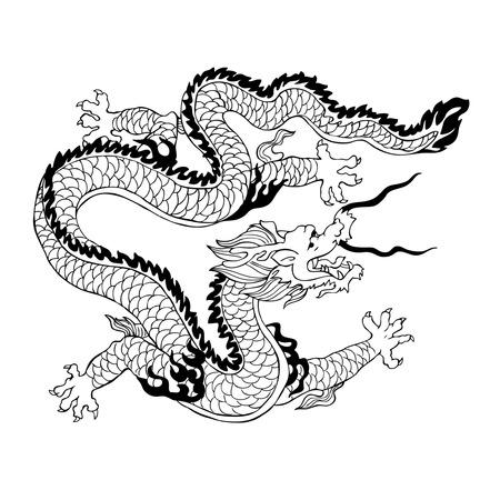 Chinese Dragon.  illustration Stock Vector - 7429957