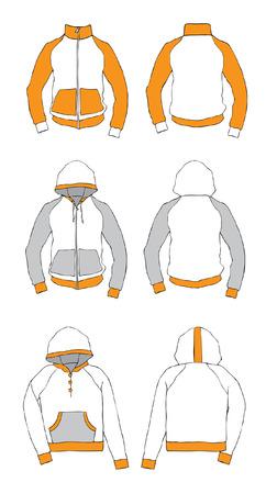 raincoat: Clothing with a hood.   illustration Illustration