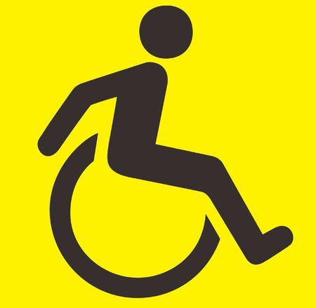medicine wheel: Disability Sign Stock Photo