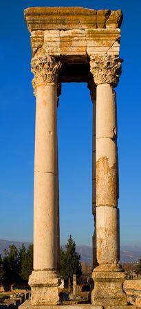 Islamic Ruins in Anjar Lebanon photo