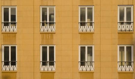 beirut lebanon: Office windows in down town beirut, lebanon Stock Photo