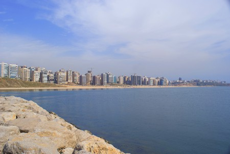 beirut: The residential sea front of beirut city