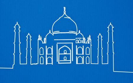 Taj Mahal of india on a blue background Stock Photo - 7502403