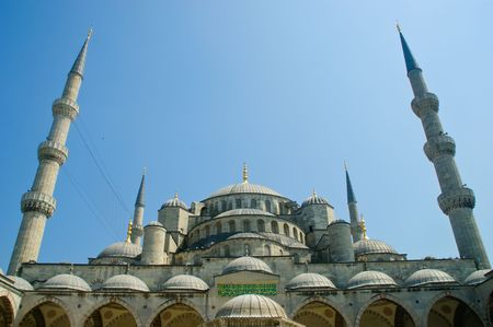 The iconic Blue Mosque of Istanbul City photo