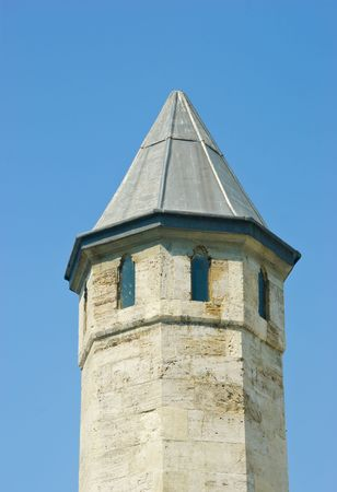 A castles stone tower in Istanbul photo