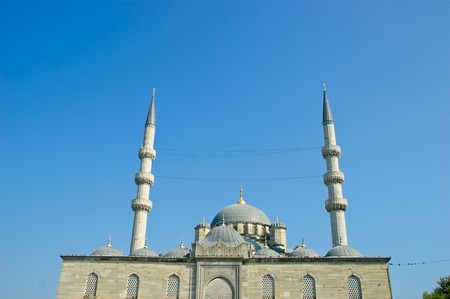 The famous eminou mosque of istanbul city photo