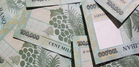 Lebanese 100,000 Lira Bills Reklamní fotografie