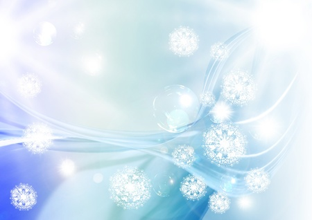 Beautiful abstract snowflakes for  back  and text photo