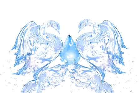 Abstract swan for back and design, Abstract water shapes series photo