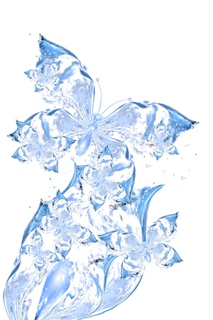 Abstract butterflies from water for design, Abstract water shapes series photo