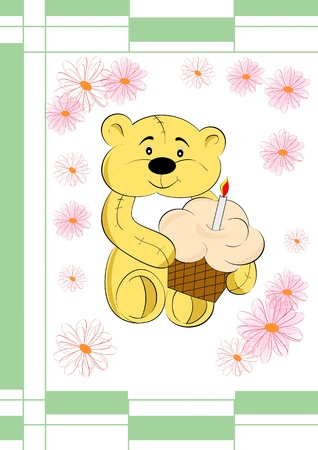 fillings: Pretty teddy bear can used have card or element of design  Pretty animals serial