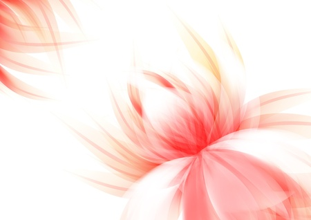 isolated on a white background: Clear back with abstract flower  Red serial