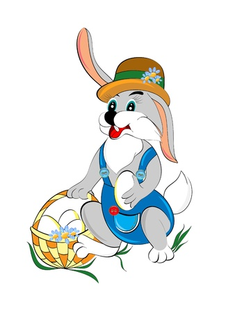 holyday: Pretty  bunny symbol of Easter  Easter bunny serial