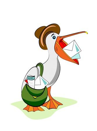 bring: Funny pelican  bring mail