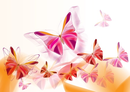 holyday: Elegant painted butterflies for  design, cards and wallpapers  Butterflies design