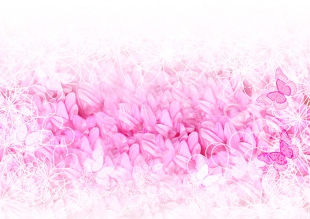 pink flower background: Soft and pretty element of design and card   Stock Photo