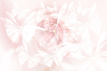 pastel tone: Very soft  and gentle back for  design, cards and wallpapers  Butterflies design