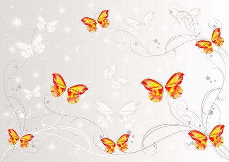 Bonito fondo de pantalla con dise�o de mariposas pintadas mariposas Foto de archivo - 13306037