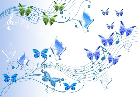 Beautiful illustration for your design   Butterflies design   illustration