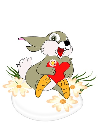 Easter  greeting card with cute bunny  Easter bunnies  Stock Photo - 13306024