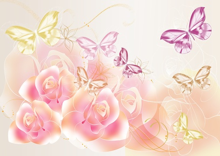 Beautiful roses illustration for your design Stock Illustration - 13306040