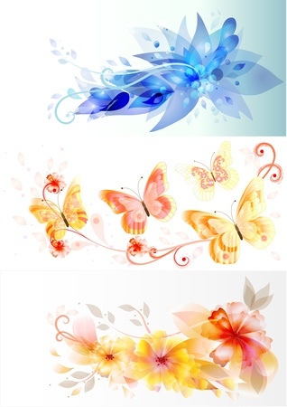Business cards with flourish design Vector