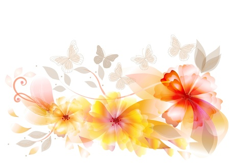 pastel flowers: flowers back for your design Illustration