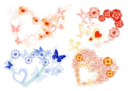Beautiful hearts for your design Vector