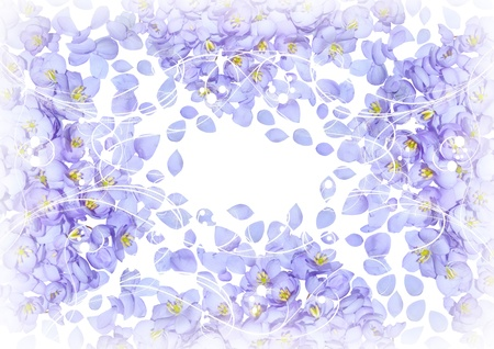 Blue flowers and petals for your design Stock Photo - 13711105