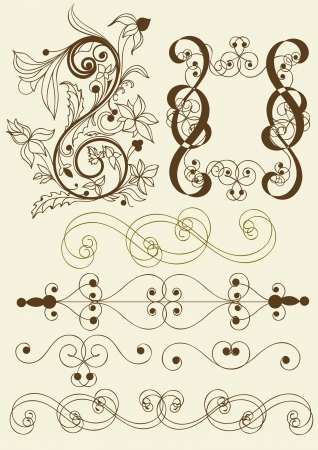 cor: Calligraphic  elements of design  Illustration