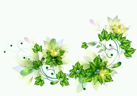 Beautiful flourish background for your design   Vector