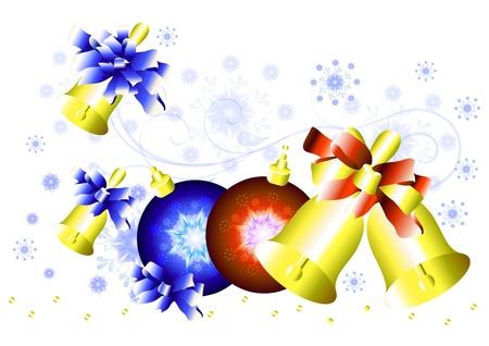 moños de navidad: Navidad de fondo para su diseño
