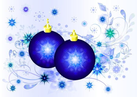 Christmas balls card design Stock Vector - 13880815